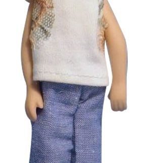 DP123 - 1:12th scale Dolls House Doll, Modern Jeans Woman
